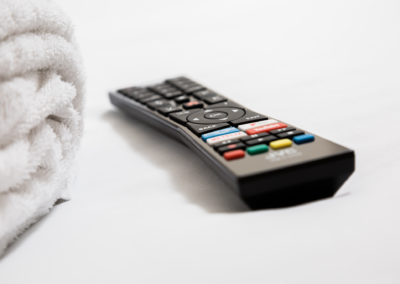 towel and remote